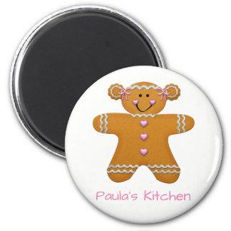 Gingerbread Girl Fridge Magnet~Personalize! Magnet
