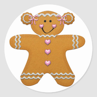 Gingerbread Girl Sticker