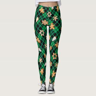 Gingerbread Green Leggings