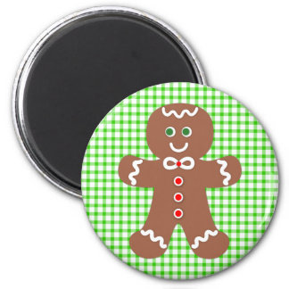 Gingerbread Holiday Boy 6 Cm Round Magnet