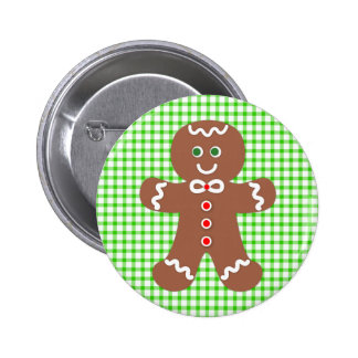 Gingerbread Holiday Boy Button