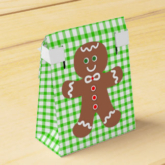 Gingerbread Holiday Boy Favor Boxes
