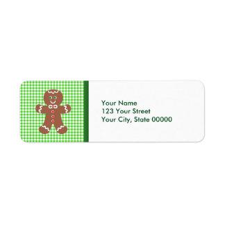 Gingerbread Holiday  Boy Return Address Label