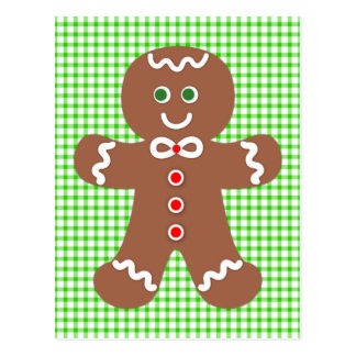 Gingerbread Holiday Boy Postcard