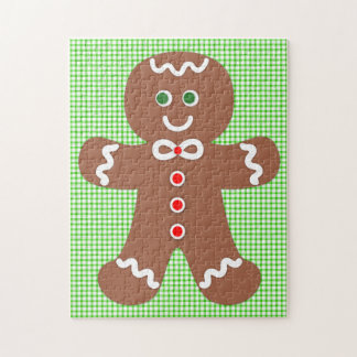 Gingerbread Holiday Boy Jigsaw Puzzle