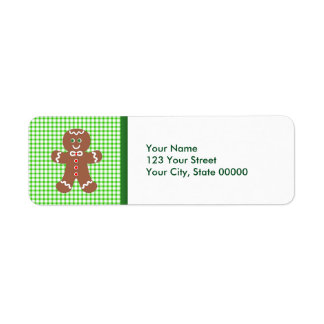 Gingerbread Holiday  Boy Return Address Label