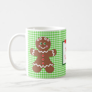 Gingerbread Holiday Girl and Boy Basic White Mug