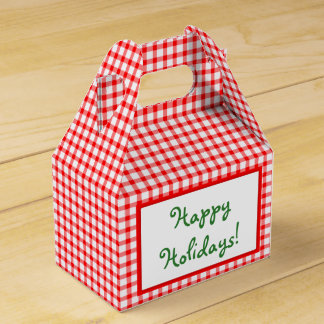 Gingerbread Holiday Girl and Boy Favor Box