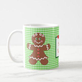Gingerbread Holiday Girl and Boy Classic White Coffee Mug