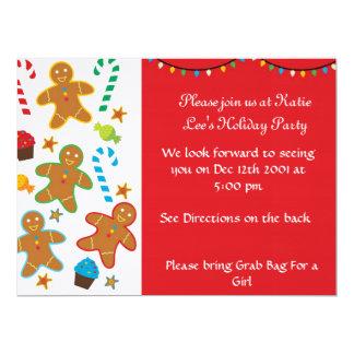 "Gingerbread Holiday Invitation 6.5"" X 8.75"" Invitation Card"