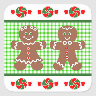 Gingerbread Holiday Square Sticker