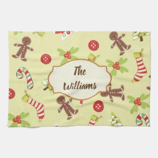 Gingerbread Holiday Tea Towel
