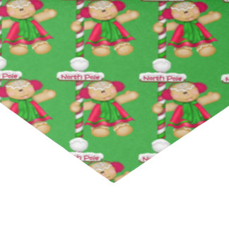 Gingerbread Holiday tissue paper matching
