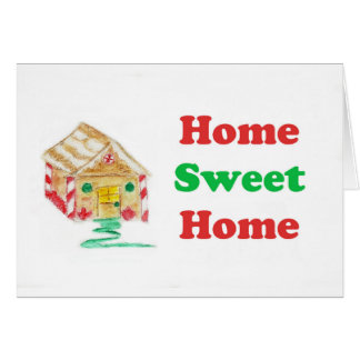 gingerbread home card