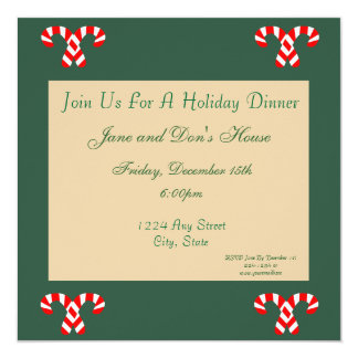 Gingerbread House 13 Cm X 13 Cm Square Invitation Card