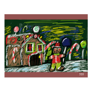 gingerbread house 2 postcard