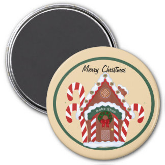Gingerbread House 7.5 Cm Round Magnet