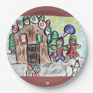 gingerbread house 9 inch paper plate