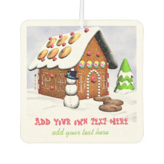 Gingerbread house air freshener