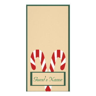 Gingerbread House and Candy Canes Holidy Personalized Photo Card