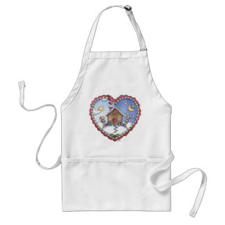 Gingerbread House and Heart Apron