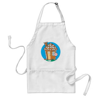Gingerbread House Adult Apron