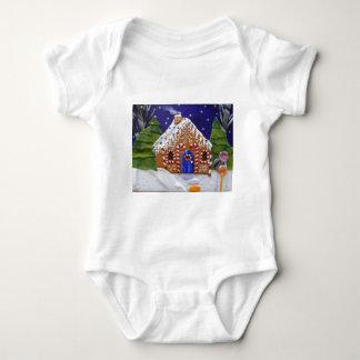 Gingerbread House Baby Bodysuit