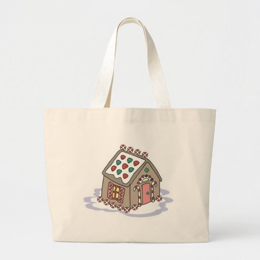gingerbread house canvas bags
