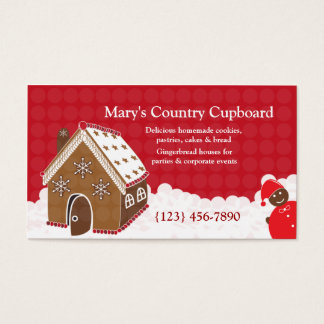 Gingerbread House Bakery Cookie Business Card