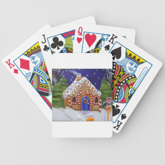 Gingerbread House Bicycle Playing Cards