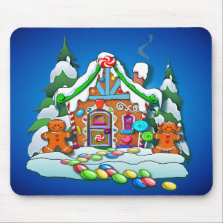 GINGERBREAD HOUSE by SHARON SHARPE Mouse Mat