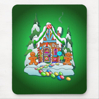 GINGERBREAD HOUSE by SHARON SHARPE Mouse Pad