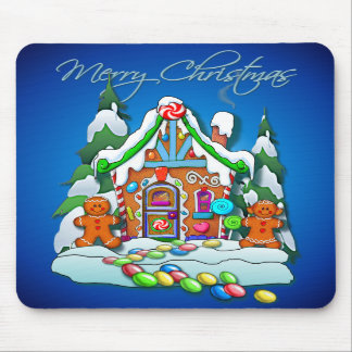 GINGERBREAD HOUSE by SHARON SHARPE Mouse Pads