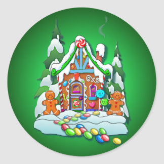 GINGERBREAD HOUSE by SHARON SHARPE Stickers