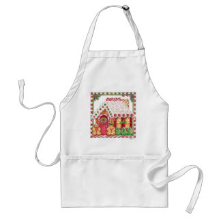 Gingerbread House Candy Cottage & Gingerbread Man Adult Apron