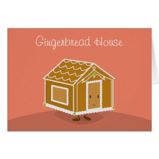 Gingerbread House cartoon | Greeting Card