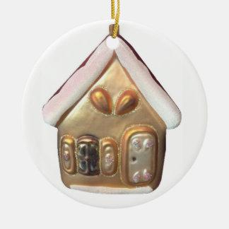 Gingerbread House Ceramic Ornament