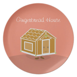 Gingerbread House character | Melamine Plate