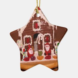 Gingerbread House Christmas Decoration Ceramic Star Decoration