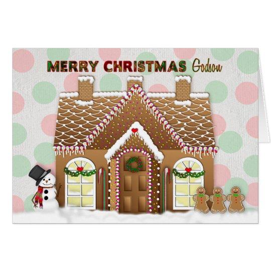 Gingerbread House Christmas - Godson Card
