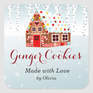 Gingerbread House Cookie Jar gift sticker