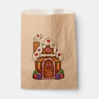 Gingerbread House Cottage Favor Bag Favour Bags