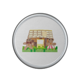 Gingerbread House Couple Bumpster Speakers Bluetooth Speaker