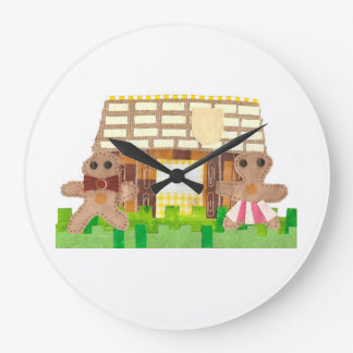 Gingerbread House Couple Clock