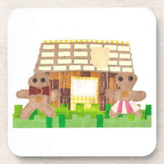 Gingerbread House Couple Cork Coasters