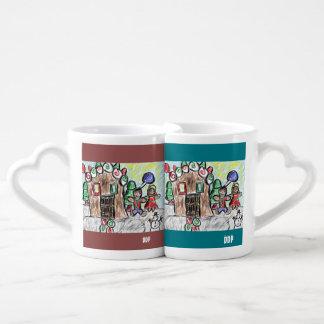 gingerbread house couple mugs