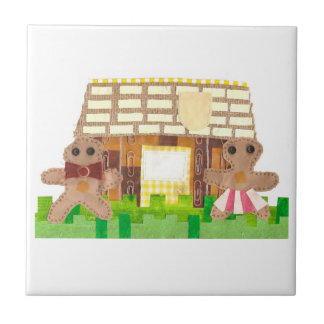 Gingerbread House Couple Tile