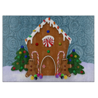 Gingerbread House Cutting Board