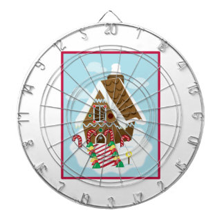Gingerbread House Dartboard With Darts