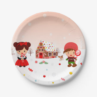 Gingerbread House Decorating party plates